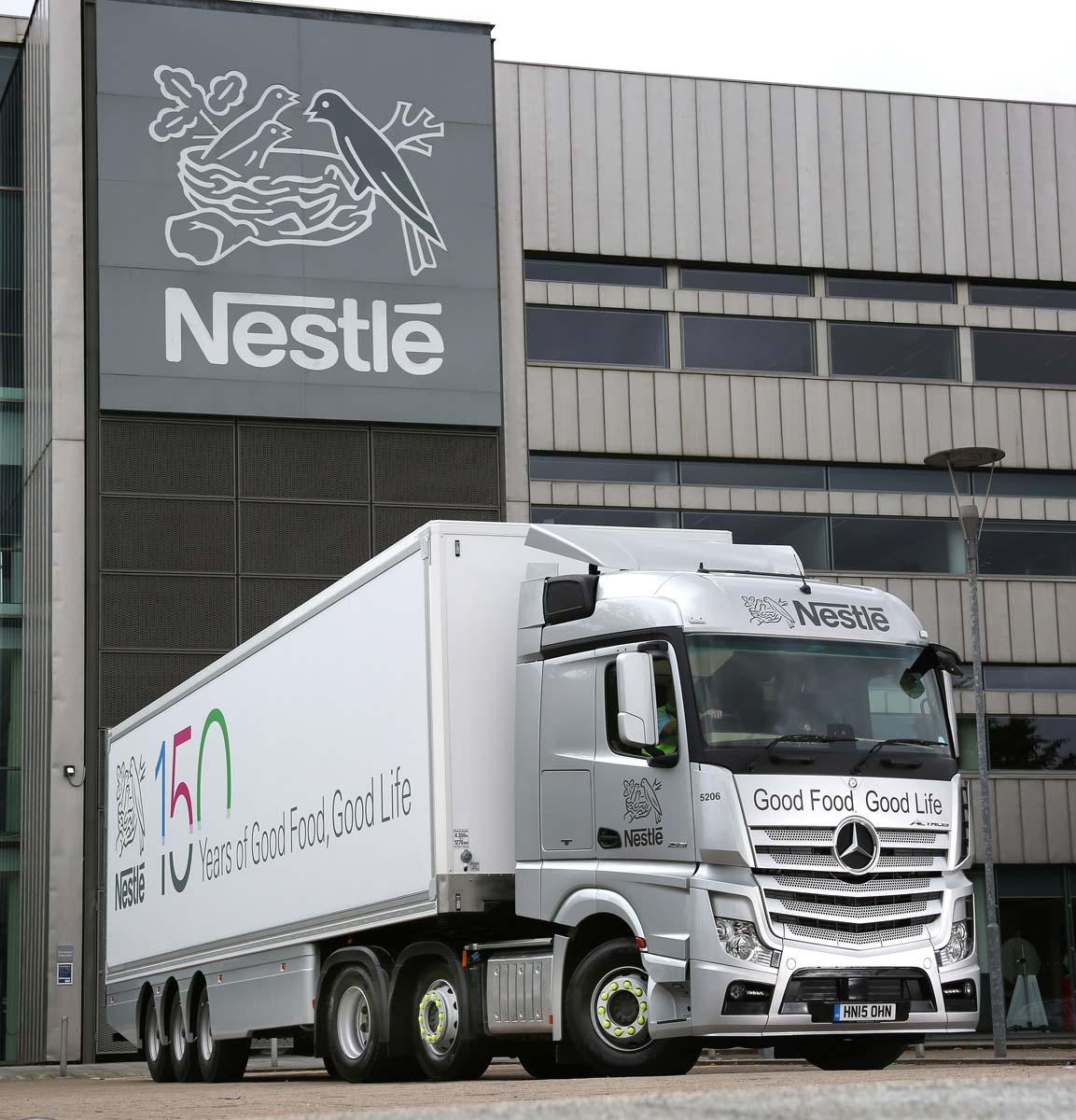 Nestle, Mercedes Actros